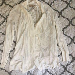 LOFT White summer cardigan